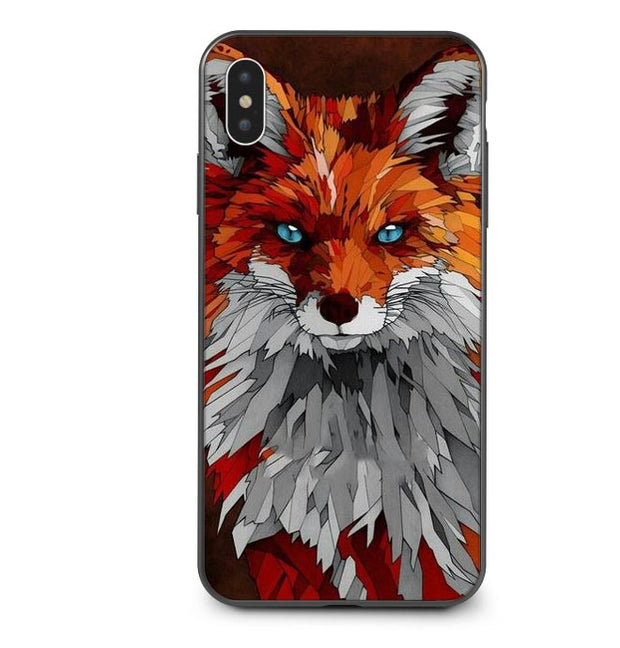 Luxury Animal Wolf Soft Silicone Cases For IPhone 5 S SE X Phone Cases For IPhone 6s 6 7 8 Plus XS Max XR Coque Back Cover Capa