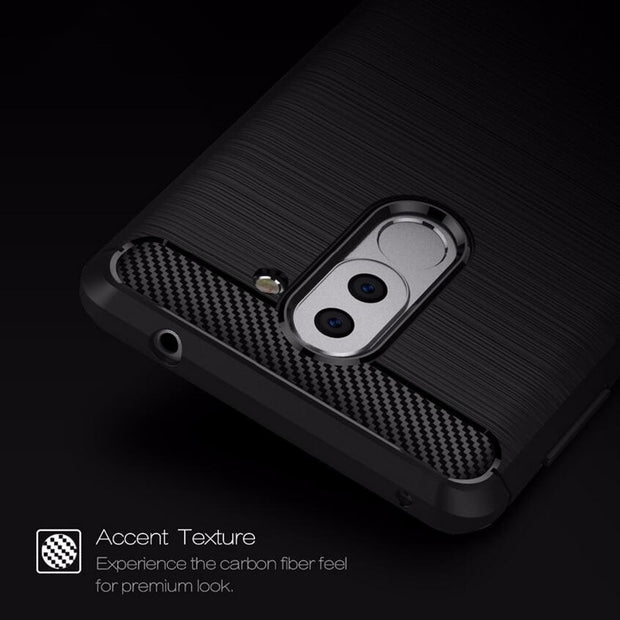 Luxury Anti-drop Carbon Fiber TPU Case For Huawei Honor 6 Plus Back Cover Honor 6X Soft Phone Cases For Huawei Honor 6 X Capa