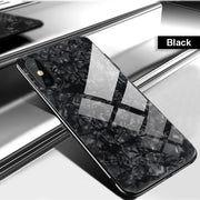 Luxury Bling Shell Soft Edge Tempered Glass Cases For Huawei P10 P20 Lite Mate 10 Lite Pro Honor 10 9 Lite Cover Coque Case