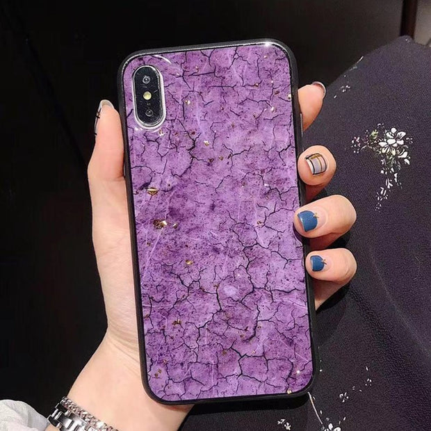 Luxury Gold Foil Bling Marble Phone Cases For IPhone X 10 Cover Soft TPU For IPhone XR XS MAX 7 8 6 6s Plus Glitter Case Coque