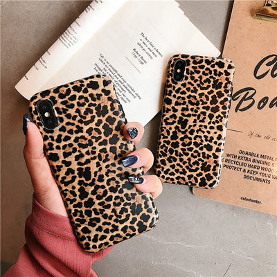 Luxury Leopard Phone Case For IPhone X XR XS Max Ultra Thin Soft Silicone Cover Case For IPhone 7 8 6 6S Plus Shockproof Case