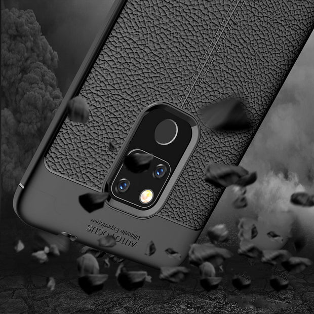 Luxury Litchi Grain Case For Huawei Mate 20 10 Lite Slim Soft Silicon Full Cover For Huawei Mate20 10 Pro Protective Back Coque