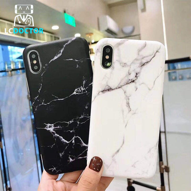 Luxury Marble Stone Painted Phone Case For IPhone X 7 8 Plus Soft TPU Cases For Iphone 6 6s Plus