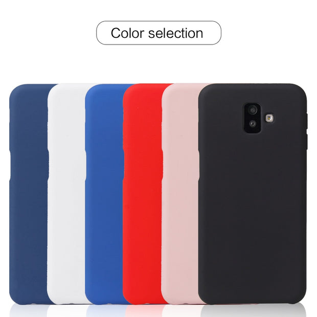 hot sale online 7ab6c b22d2 Luxury Official Style Silicone Case For Samsung Galaxy J6 Plus 2018 Prime  Cases For Samsung J4 Plus 2018 Capa Cover Phone Case