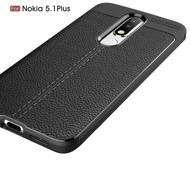 Luxury PU Leather Soft TPU Silicone Phone Case For Nokia 2.1 3.1 5.1 Plus X5 7 6 6.1 X6 8.1 Sirocco 1 Back Cover