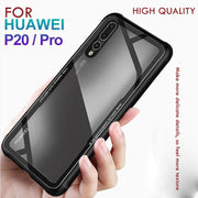Luxury Phone Case For Huawei P20 Pro P20 Lite Tempered Glass +TPU Back Cover For Hauwei P20 Silicone Shockproof Cases Coque