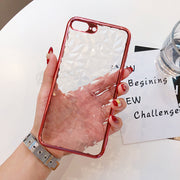 Luxury Plating Phone Cases For IPhone X 10 Soft TPU Transparent Case Diamond Pattern Clear Cover For IPhone 7 8 6 6s Plus Case