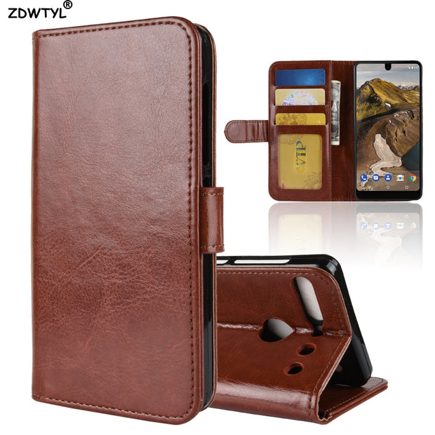brand new 9d987 09bac Luxury Retro Leather Wallet Case For Essential Phone PH-1 Capa Phone Flip  For Essential Phone PH-1 Case Phone Bag