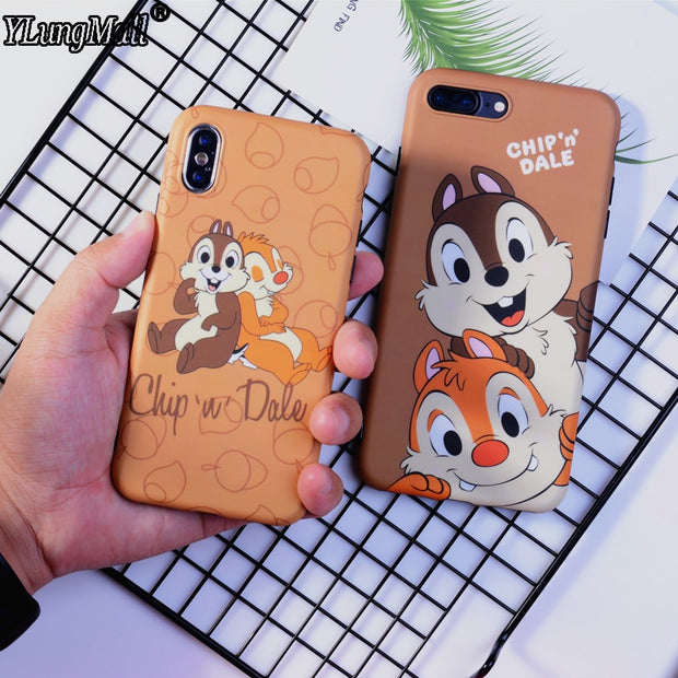Luxury Soft Imd Case For Iphone X Xs Max 2018 Cute Squirrel Chip Dale Ferrum Cases