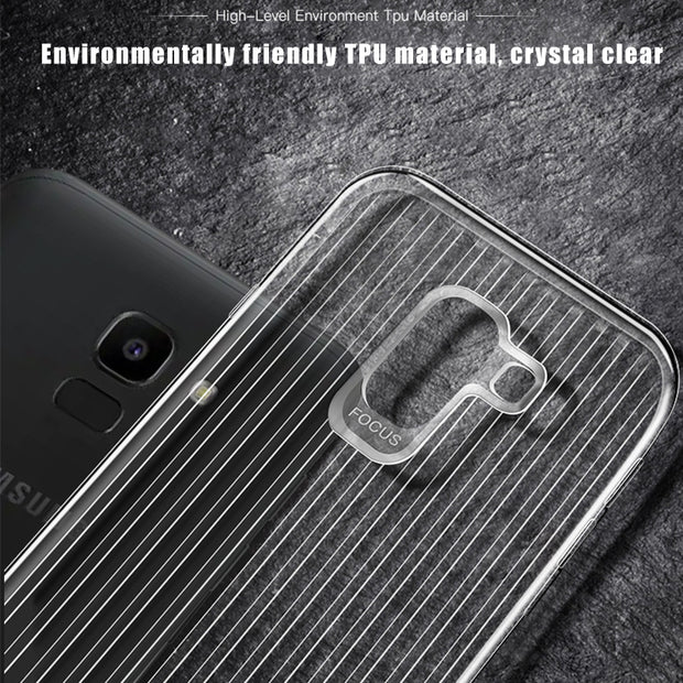 Luxury Stripes TPU Case For Samsung Galaxy A8 A9 Star J8 J6 J4 J2 Pro Prime A6 Plus 2018 Protective Cover For Samsung Note 8