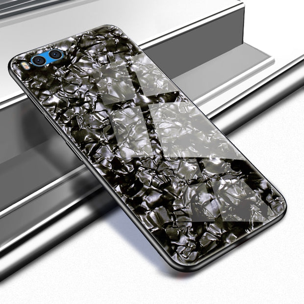 Luxury Tempered Glass Case For Xiaomi Mi Note 3 Soft Silicone Frame Bling Shell Cover For Xiaomi Mi Note 3 Case Shockproof Coque