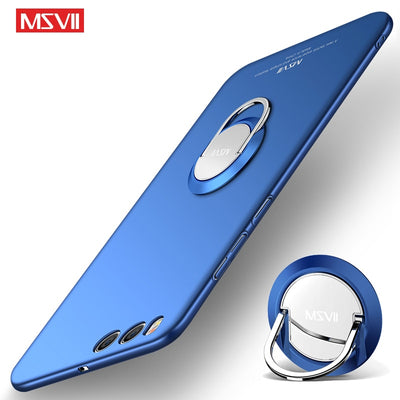 MSVII Cases For Xiaomi Mi Note 3 Case Cover Finger Ring Slim Matte Cases Xiaomi Note 3 Case Mi Note3 Metal Car Holder Cover 5.7""
