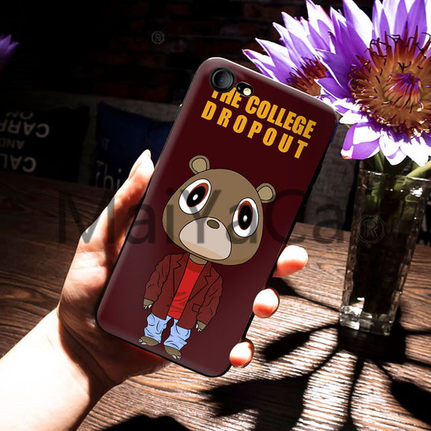 MaiYaCa For iphone 7 6 X Case Kanye West Graduation Bear Painted Smart Phone Case for a6c6f495 3fda 41ba 8ec4