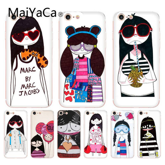 MaiYaCa For Iphone 7 6 X Case Marc By Marc Jacobs Miss Marc Lovely Gir 208a0fcefba4