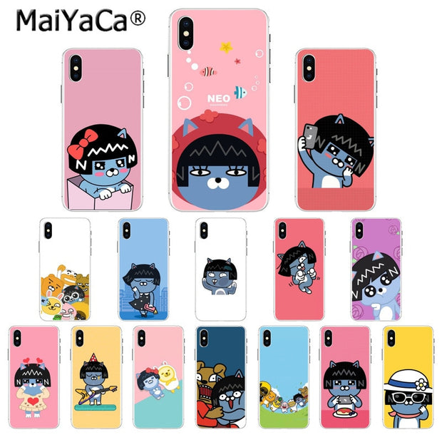 Maiyaca Korean Cartoon Funny Kakao Friends Pattern Tpu Soft Phone Cell Ferrum Cases