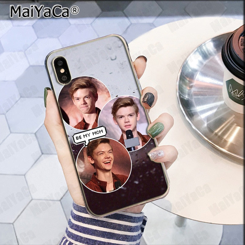 new style 364b5 1da64 MaiYaCa The Maze Runner Thomas Sangster Dylan Simple Soft TPU Fashion Phone  Cover For IPhone 8 7 66S Plus X XS Max 10 55S SE XR