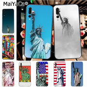 Maiyaca American Statue Of Liberty Novelty Fundas Phone Case Cover For Huawei P20 P20 Pro Honor9 Mate10 Case Cover