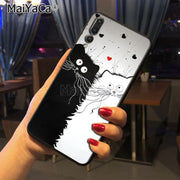 Maiyaca Art Of Black And White Cat Newest Fashion Luxury Phone Case For Huawei Honor 9 Honor 10 P20 Case Coque