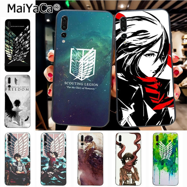 Maiyaca Attack On Titan Mikasa Unique Design High Quality Phone Case For Huawei P20 P20 Pro Honor9 Mate10 Case Cover