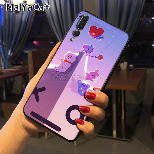 Maiyaca BTS BT21 Unique Design Newest The Fashion Phone Case For Huawei P20 P20 Pro Honor9 Mate10 Case Cover