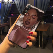 Maiyaca Black Girl Art Newest Super Cute Phone Cases For Huawei P20 P20 Pro Mate10 P10 Plus Honor9 Cass