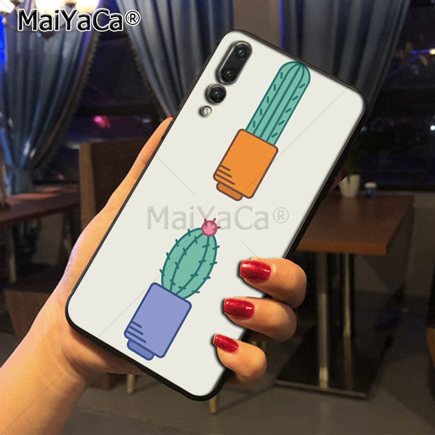 Maiyaca Cactus Coque Luxury Fashion 2D Phone Case For Huawei Honor 9 Honor 10 P20 Case Coque