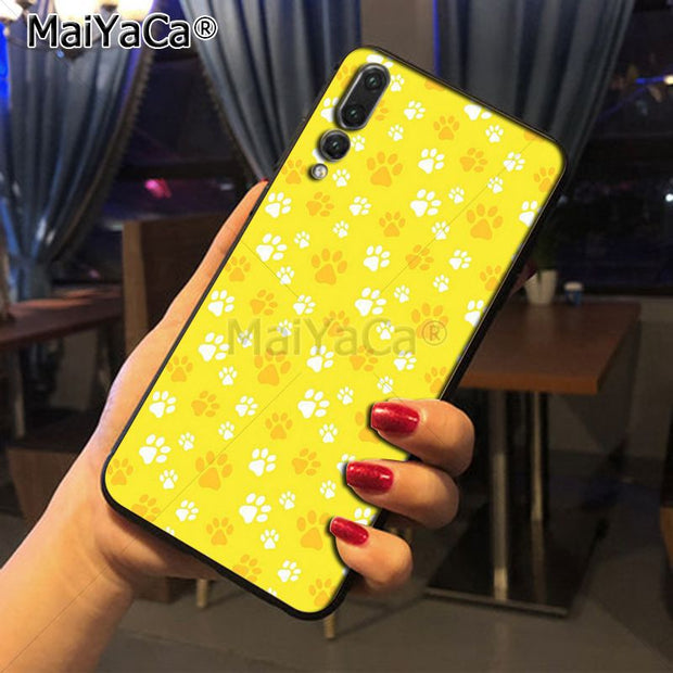 Maiyaca Cute Cat Paw Print Printing Drawing Protection Phone Cover Case For Huawei Honor 9 Honor 10 P20 Case Coque
