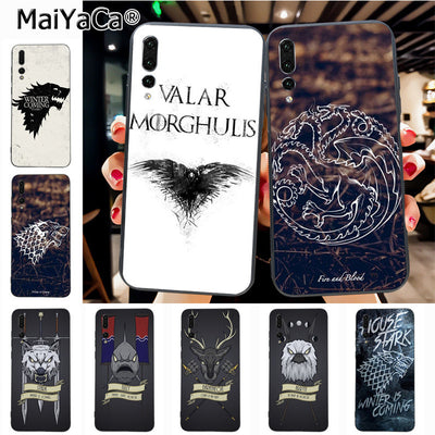 Maiyaca House Sigils For A Game Of Thrones Painted Beautiful Phone Accessories Case For Huawei P20 P20 Pro Honor9 Mate10 Case