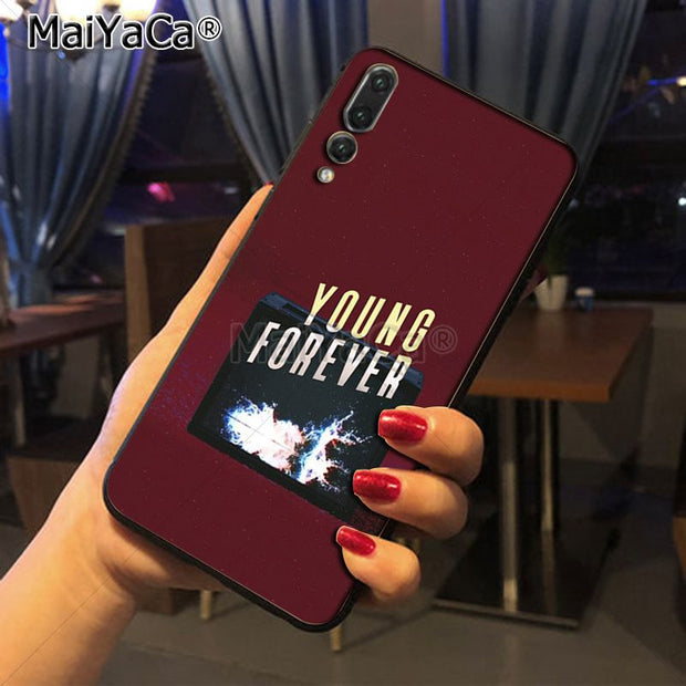 Maiyaca Letters FOREVER YOUNG BTS On Sale! Luxury Cool Phone Case For Huawei P20 P20 Pro Honor9 Mate10 Case Cover