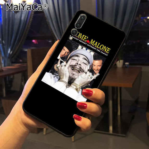 Maiyaca Post Malone Adorable Colored Drawing Phone Accessories Case For Huawei Honor 9 Honor 10 P20 Case Coque