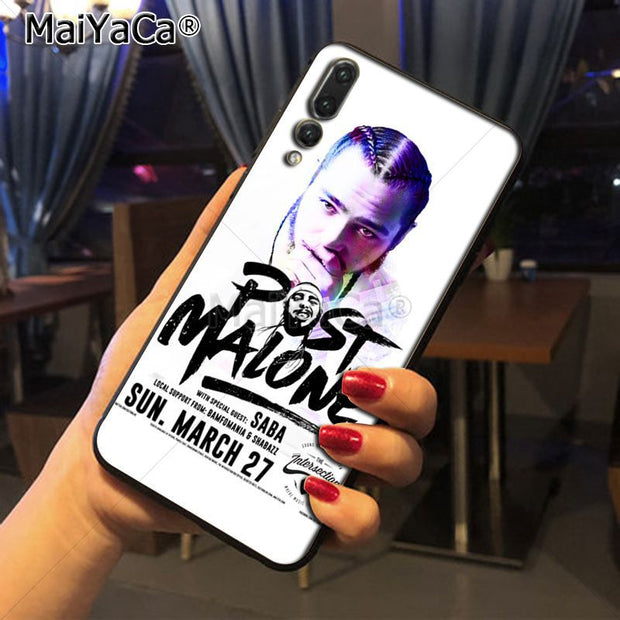 Maiyaca Post Malone Singer Printing Drawing Protection Phone Cover Case For Huawei Honor 9 Honor 10 P20 Case Coque