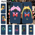 Maiyaca Sailor Moon Animation Lovely Black Soft Tpu Phone Accessories Case For Huawei P20 P20 Pro Mate10 P10 Plus Honor9 Cass