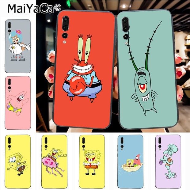 Maiyaca SpongeBob Newest Super Cute Phone Cases For Huawei P20 P20 Pro Mate10 P10 Plus Honor9 Cass