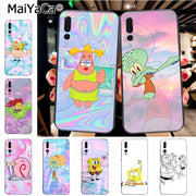 Maiyaca SpongeBob Art Fashion Design Skin Thin Black Cell Case For Huawei P20 P20 Pro Mate10 P10 Plus Honor9 Cass