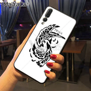 Maiyaca Viking Odin Norse Huginn And Muninn Bird Colored Drawing Phone Case For Huawei P20 P20 Pro Mate10 P10 Plus Honor9 Case
