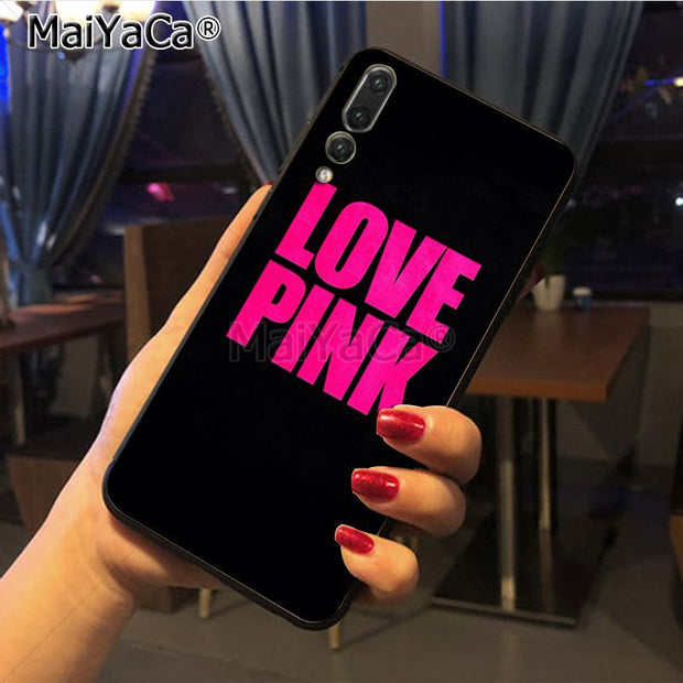Maiyaca Love Pink Letter Girly Printing Drawing Protection Phone Cover Case For Huawei Honor 9 Honor 10 P20 Case Coque