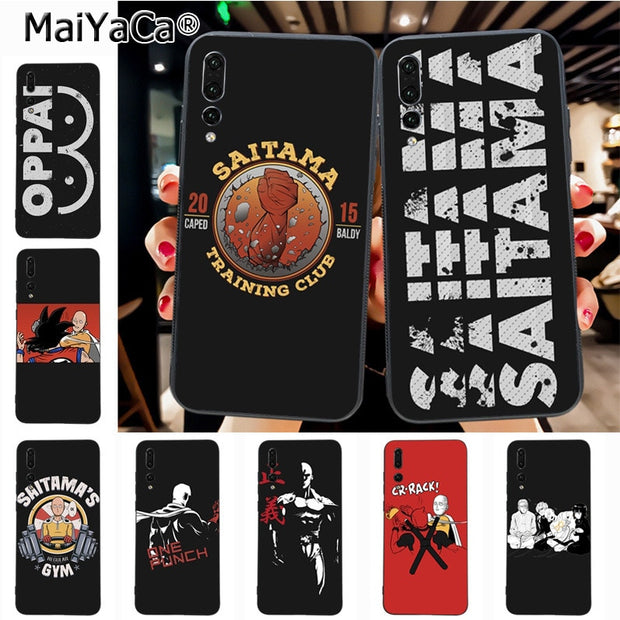 Maiyaca One Punch Man Saitama Ultra Thin Cartoon Pattern Soft Tpu Phone Case For Huawei Honor 9 Honor 10 P20 Case Coque