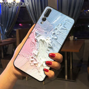 Maiyaca Pastel And Blue Be Brave Good Vibes Only Unique Soft Tpu Phone Case For Huawei P20 P20 Pro Mate10 P10 Plus Honor9 Case