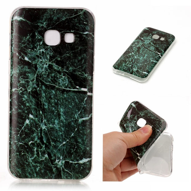 Marble Rock Stone Texture Pattern Back Cover Case For Samsung Galaxy A3 A320 A5 A520 2017 J3 J5 J7 2017 J5 Prime S8 Plus Capa