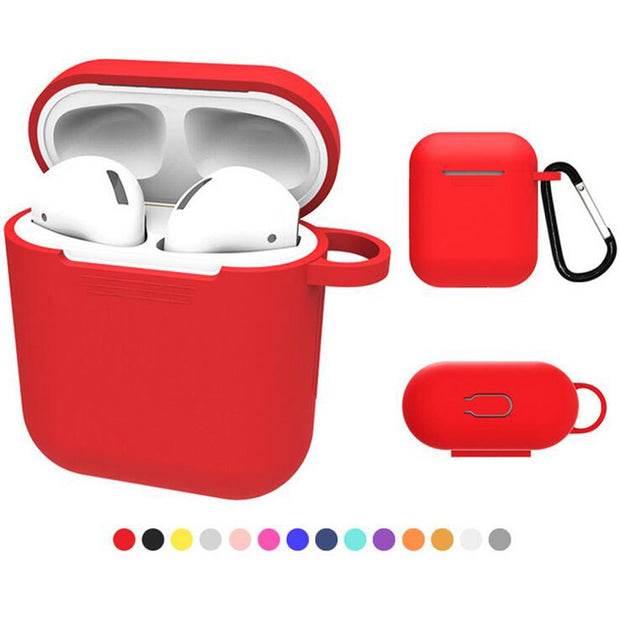 Mayround 3D Soft Silicone Shockproof Cover Earphone Protector Bag Proof Protective Cover Case For Apple AirPods Wireless