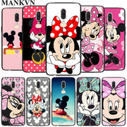 Minnie Mouse Black Soft Silicone Cases Cover For Oneplus 6 6T 5T Rubber TPU Back Phone Case
