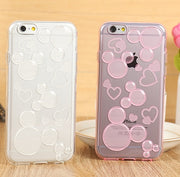 Minnie Mickey Transparent Soft TPU Cover Cases For IPhone 5 5s 6 6s 6 Plus 6s Pus Phone Cases