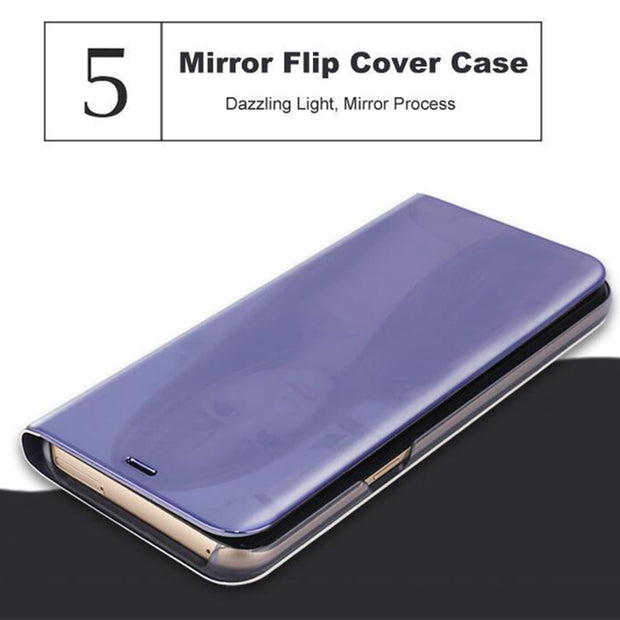 Mirror Flip Leather Smart View Case For IPhone X 10 6 6S 7 8 Plus Stand Cover For IPhone X Xr Xs Max Fundas For IPhone7 Coque