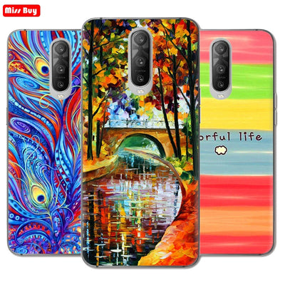 Missbuy Cartoon Animal Painted Cases For OPPO R17 Pro Case Soft Silicone Ultra Thin Floral Marble Cover For OPPO R17 Pro Fundas