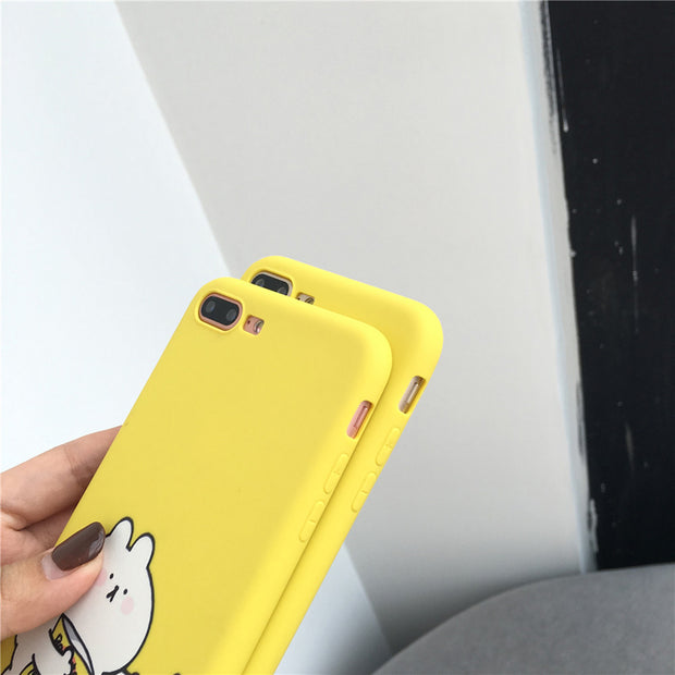 642254174c Moskado Cartoon Animal Couples Phone Case For Iphone X 8 7 6 6S Plus Case  Soft