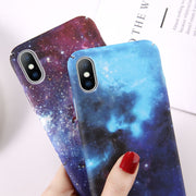 Moskado Phone Case For Iphone 7 8 6 6s Plus Luminous Starry Sky For Iphone XS MAX XR X Colorful Retro Hard PC Full Cover Fundas