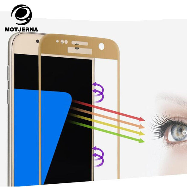 Motjerna Full Cover Tempered Glass For Samsung Galaxy A3 A5 A520 A7 A720 2017 J3 J5 J7 Screen Protector Film