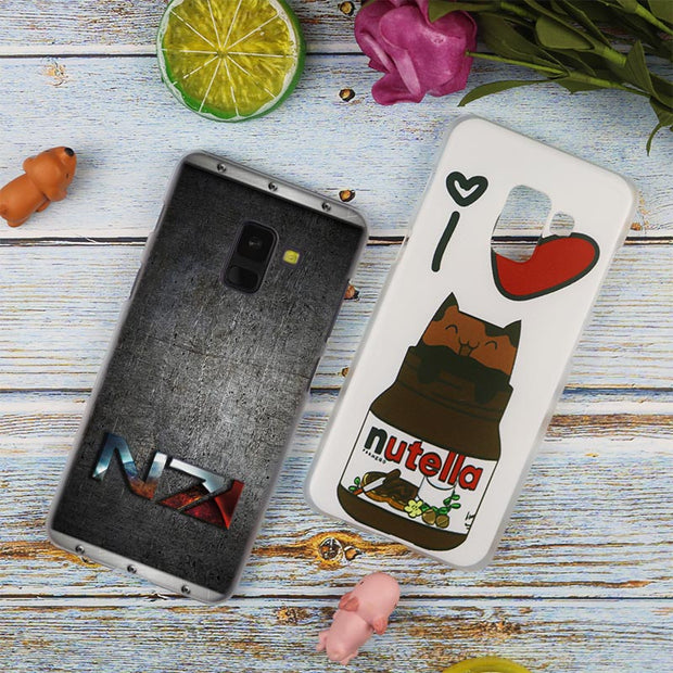 N7 Mass Effect Hot Fashion Transparent Case For Samsung Galaxy A3 A5 A9 A7 A6 A8 Plus 2018 2017 2016 Star A6S Note 9 8 Cover