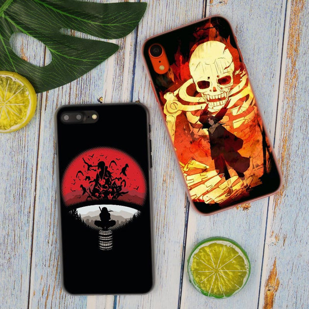 Naruto Itachi Uchiha Pattern Hot Fashion Transparent Hard Phone Cover Case  For IPhone X XS Max XR 8 7 6 6s Plus 5 SE 5C 4 4S