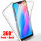 New 360 Full Body Cover For Xiaomi Redmi Note 6 Pro 6A 5A 5 4 4X S2 Shockproof Case For Xiaomi Mi A1 A2 Lite Pocophone F1 Mi8 SE